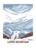 Framed Loon Mountain Screened Print