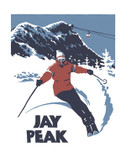 Framed Jay Peak Screened Print
