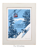 Framed Cannon Screen Print