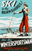 Ski the Berkshires Giclee Print
