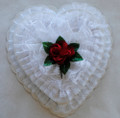 White Lace with Rose - 1 Pound Box