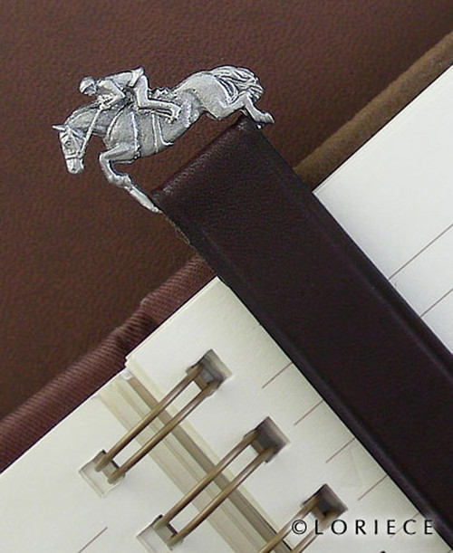 Jumper Bookmark in Leather