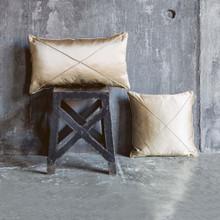 Hampton Pillows, Diagonal, Gold Silk