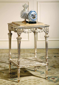 (B) Louis XVI Square Side Table