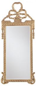 Bow Mirror, Gold Metal Leaf