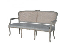 Rattan Sofa, French Weathered Provincial