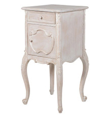 Bedside Cabinet, Chateau Whitewashed