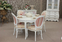 Provincial Dining Table Set 5 Pieces, French Chateau Finish