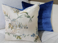Silk Floral Boudoir Pillow, White Multi