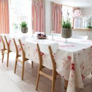 Roses Tablecloth, fabric by Kate Forman