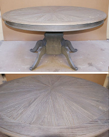 Rustic Distressed Round Dining Table