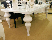 Crystal Chic Dining Table, White High Gloss
