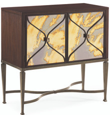 Mid Century Painted Glass Cabinet