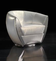 Art Deco Leather Armchair