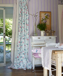 Country Curtain Panel, Cosmos