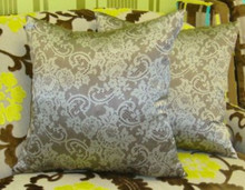 Valentino Lace Print Throw Pillow