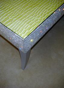 Belgravia Coffee Table, Crock Faux Leather, Apple Green