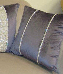 Luxury Throw Pillow, Chelsea Bling Throw pillow