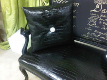 Chic Crock Throw Pillow in Faux leather