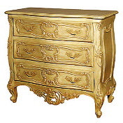 French Chest of Drawers, Baroque Style, Gold Leaf