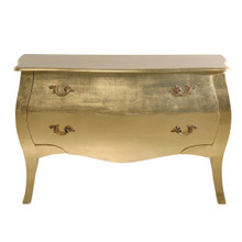 Baroque Glamour Chest, Gold Leaf 2 Drawers