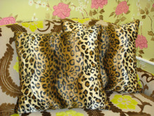 Animal Print Throw Pillow, Cheetah Print, Brown & Gold
