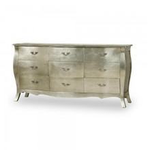 Baroque Glamour Chest.....Silver Leaf / 9 Drawer
