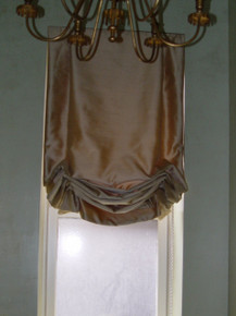 Tailored Balloon Shade, Soft Roman Shade, Silk