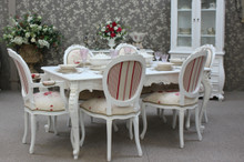 Provincial Chateau Dining Table Set 7 Piece (1 Table 6 Chairs)