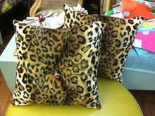 Cheetah Throw Pillow, Faux Fur
