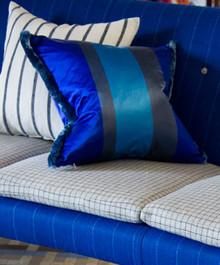 Dukala Throw Pillow in Color Cobalt