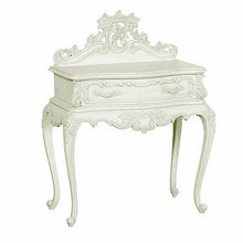 Chateau White French Side Table, 1 Drawer