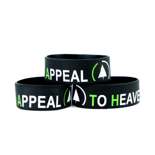"Appeal to Heaven 1"" Wristband (Black)"