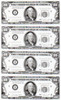 X-Files, Prop Sheet of Money, Front, David Duchovny, Gillian Anderson