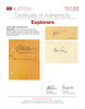 Jacques Cousteau Explorer Signature on Card PSA/DNA Authenticated