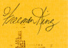 Freeman King Signed Check PSA/DNA Authenticated Near Mint Condition