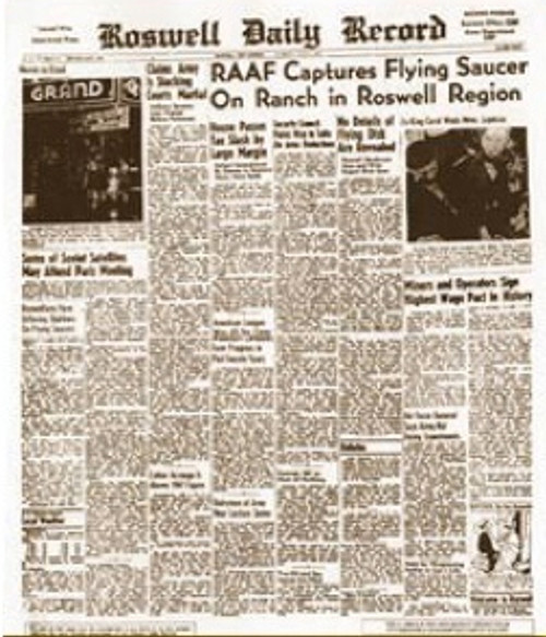 Roswell Newspaper July 9 1947, Aliens, UFOs, Must Have Collectable