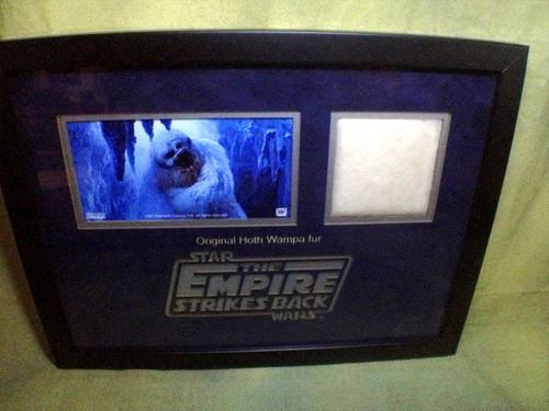 Star Wars, Empire Strikes Back, Hoth Wampa Fur Prop, Framed