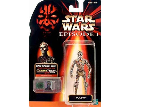 Star Wars Ep 1 Phantom Menace C3PO CommTech Fig, New