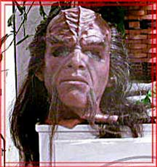 "Star Trek IV; The Undiscovered Country"", Full Klingon Close-Up Mask Prop"