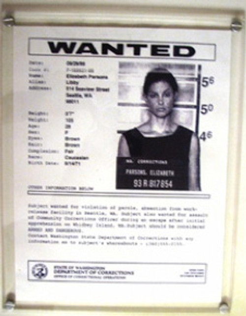 Double Jeopardy, Ashley Judd, Real Prop Wanted Poster