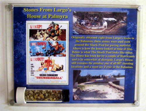 007 Thunderball, Stones From Largo's House At Palmyra, Framed