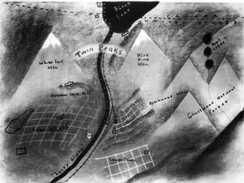 Copy of Twin Peaks TV show Map, by David Lynch, Very Detailed, PDF Download