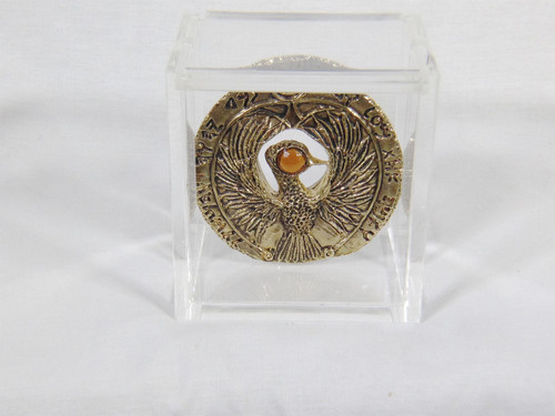 Indiana Jones, Staff of RA Headpiece, Antique Gold, Solid Metal, Amber Jewel and Case