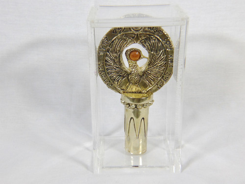 Indiana Jones, Staff of RA Headpiece, Antique Gold, Amber Jewel, Stand and Case