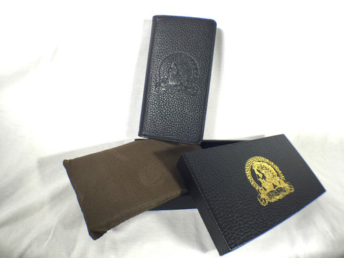 Arnoldus Premium Italian Leather Wallet Black Pebble Texture