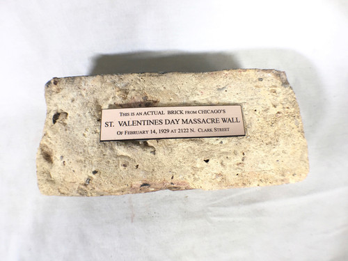 St. Valentines Day Massacre Wall Brick