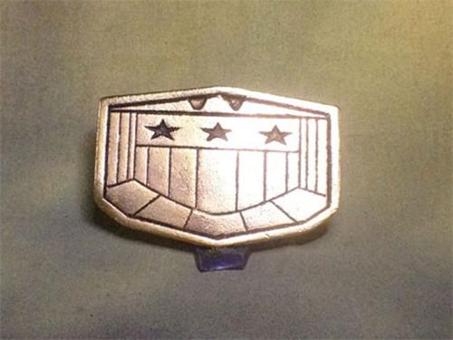 Judge Dredd Flat Type Belt Buckle, Metal, Gold