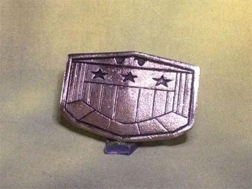 Judge Dredd Flat Type Belt Buckle, Metal, Silver
