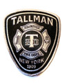 Tallman Fire Department Patch - Black & White